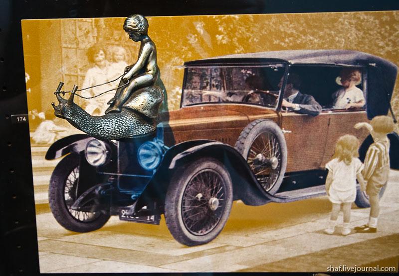 Автомузей; Национальный музей автомобилей, Мюлуз (Mulhouse), Франция; автоэмблемы